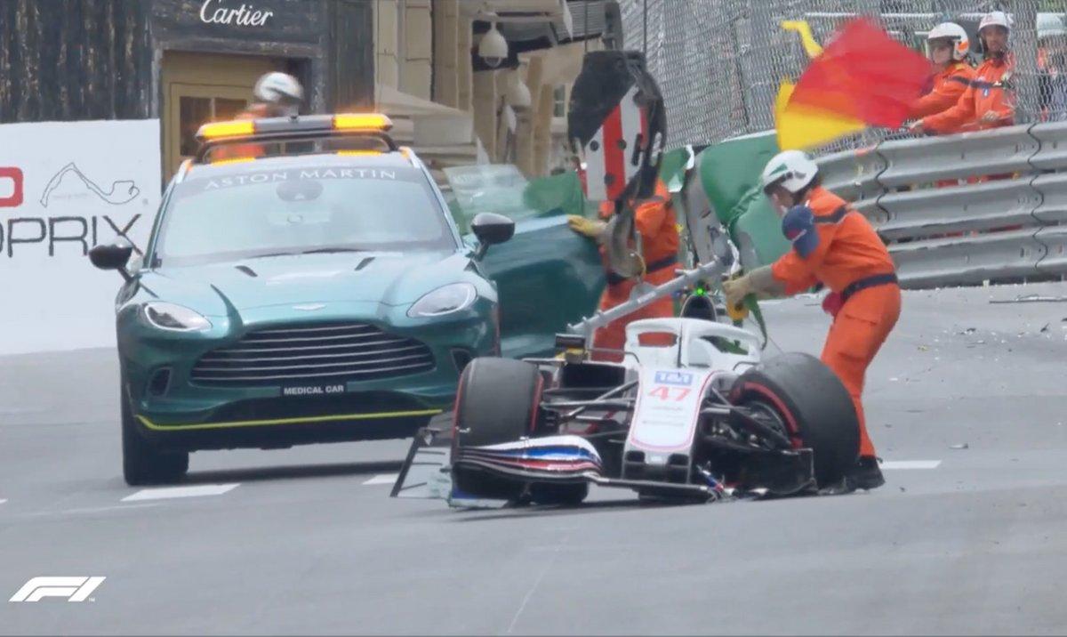 El accidente de Mick Schumacher en la FP3 de Mónaco