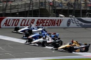 Ryan Briscoe, Schmidt Peterson Motorsports, Will Power, Team Penske Chevrolet, Tony Kanaan, Chip Ganassi Racing et Marco Andretti, Andretti Autosport