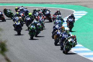 Philipp Ottl, Kawasaki Puccetti Racing, Federico Caricasulo, GMT94 Yamaha, Steven Odendaal, Evan Bros. WorldSSP Team