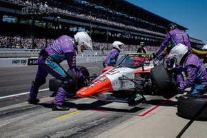 Pietro Fittipaldi, Dale Coyne Racing avec RWR Honda, effectue un arrêt au stand