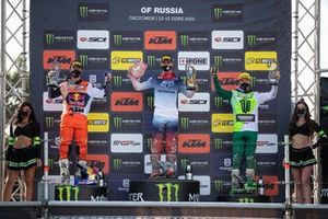 Tim Gajser, HRC Honda, Jeffrey Herlings, Red Bull KTM Factory Racing e Romain Febvre, Kawasaki Factory Racing