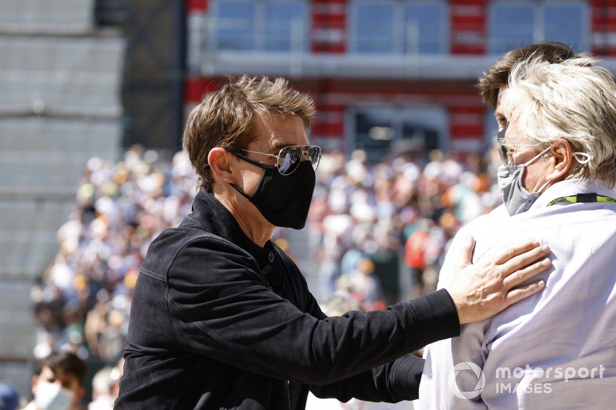 Los actores Tom Cruise y Michael Douglas