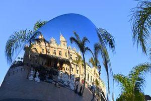 The Monte Carlo Casino reflected in a mirror