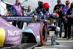 Ganador de la pole Romain Grosjean, Dale Coyne Racing with RWR Honda