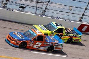Sheldon Creed, GMS Racing, Chevrolet Silverado Liftkits4less.com and Matt Crafton, ThorSport Racing, Toyota Tundra Ideal Door/Menards