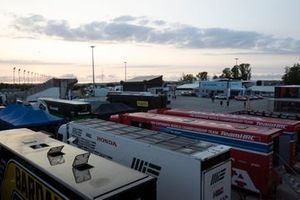 Race trucks, Paddock
