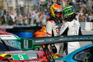 #16: Wright Motorsports Porsche 911 GT3R, GTD: Patrick Long, Trent Hindman, #9: Pfaff Motorsports Porsche 911 GT3R, GTD: Zacharie Robichon, Laurens Vanthoor