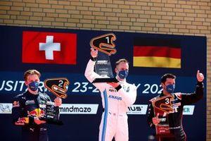 Podium: Race winner Philip Ellis, Mercedes AMG Team Winward, second place Liam Lawson, AF Corse, third place Mike Rockenfeller, Abt Sportsline
