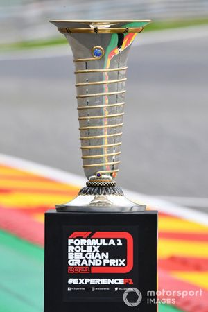 Drivers championship trophy on display at La Source