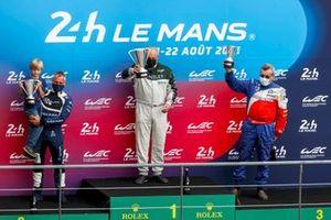 Podium: #7 Bentley Speed 8: Shaun Lynn, #16 Dallara SP1: Florent Moulin, #25 Lola-MG EX257: Mike Newton