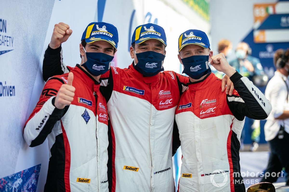 #83 AF Corse Ferrari 488 GTE EVO: Francois Perrodo, Nicklas Nielsen, Alessio Rovera