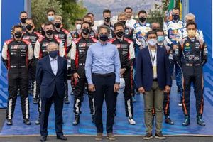 FIA World Rally Championship drivers with Jean Todt, FIA president
