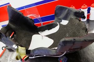 A Haas F1 seat