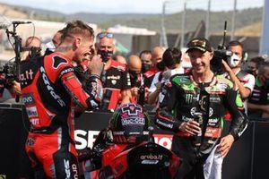 Polesitter Scott Redding, Aruba.It Racing - Ducati, 2. Jonathan Rea, Kawasaki Racing Team WorldSBK