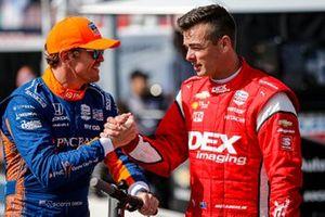 Scott Dixon, Chip Ganassi Racing Honda and Scott McLaughlin, Team Penske Chevrolet