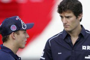 Christian Klien, Red Bull and Mark Webber, Williams