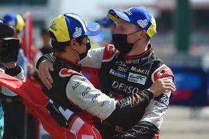 Overal winners Kamui Kobayashi, #7 Toyota Gazoo Racing Toyota GR010 - Hybrid Hypercar, Mike Conway, #7 Toyota Gazoo Racing Toyota GR010 - Hybrid Hypercar