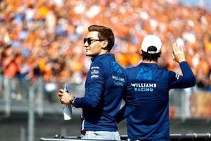 George Russell, Williams and Nicholas Latifi, Williams on the drivers parade