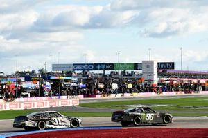 Riley Herbst, Stewart-Haas Racing, Ford Mustang Monster Energy, Sage Karam, Jordan Anderson Racing, Chevrolet Camaro BLACK OPS by Ric Prado