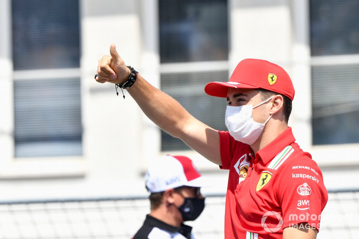 Charles Leclerc, Ferrari in the drivers' parade