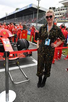 Riviera cast member Julia Stiles on the grid