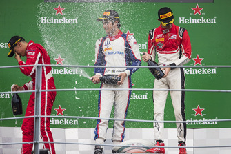 Podium : le vainqueur Pedro Piquet, Trident, second place Giuliano Alesi, Trident, third place Callum Ilott, ART Grand Prix