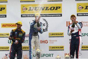 Andrew Jordan, WSR BMW, Ashley Sutton, Team BMR Subaru Levorg and Tom Ingram, Speedworks Motorsport Toyota Avensis
