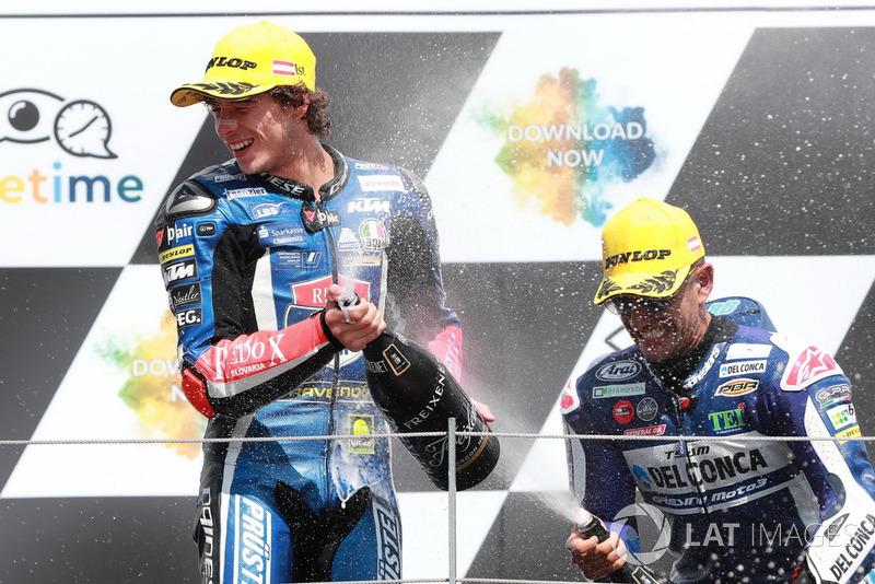 Podio: il vincitore della gara Marco Bezzecchi, Prustel GP