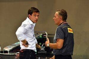 Toto Wolff, Mercedes AMG F1 Director of Motorsport and Toto Wolff, Mercedes AMG F1 Director of Motorsport and Mario Isola, Pirelli Sporting Director