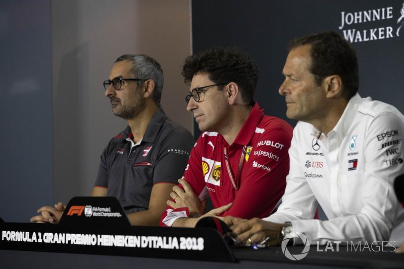 Ben Agathangelou, Haas F1 Team, Mattia Binotto, Ferrari ve Aldo Costa, Mercedes AMG F1 ve Simone Resta