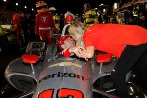 Will Power, Team Penske Chevrolet with wife Liz