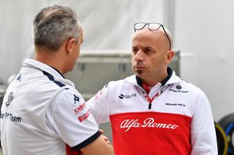 Beat Zehnder, Sauber Manager and Simone Resta, Sauber Designer