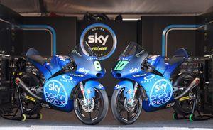 Las KTM di Nicolò Bulega y Dennis Foggia, Sky Racing Team VR46, con el diseño especial
