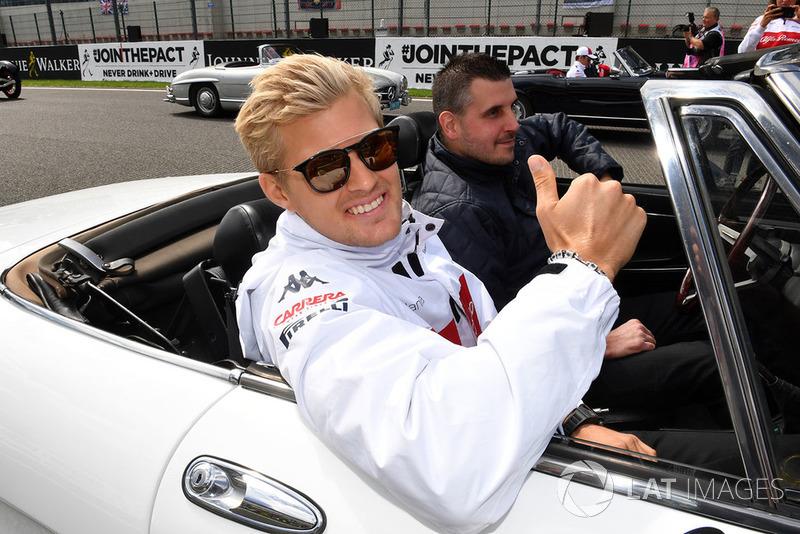 Marcus Ericsson, Sauber en el drivers parade