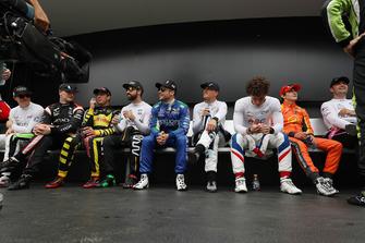 IndyCar-Piloten warten auf die Fahrervorstellung