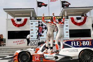 #54 CORE autosport ORECA LMP2, P - Jon Bennett, Colin Braun, podium,