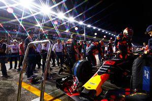 Max Verstappen, Red Bull Racing RB14, sulla griglia