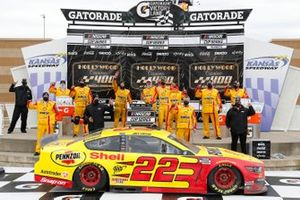The NASCAR Cup Series teams take to the track for the Hollywood Casino 400 at Kansas Speedway in Kansas City, Kansas.