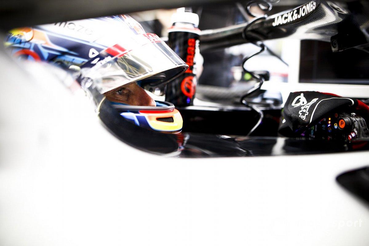 Romain Grosjean, Haas F1, en su cockpit