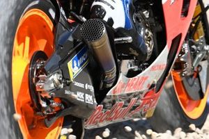 Alex Marquez, Repsol Honda Team, rides through the gravel