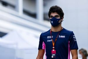 Lance Stroll, Racing Point in the paddock