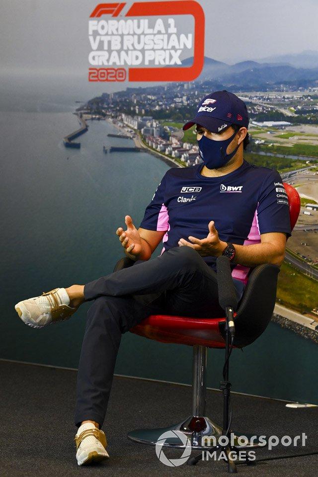 Sergio Pérez, Racing Point en la conferenci de prensa