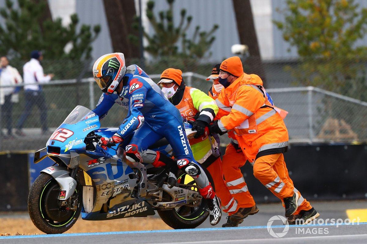 Alex Rins, Team Suzuki MotoGP dopo la caduta