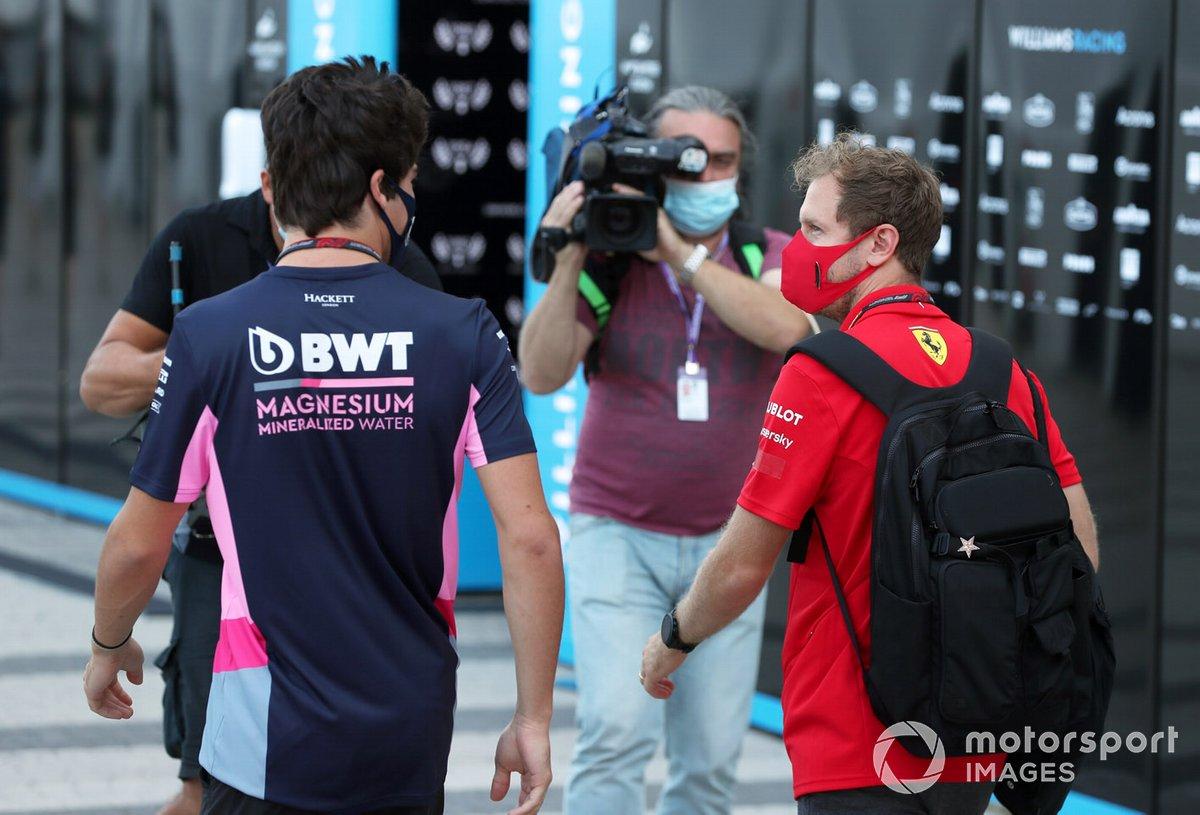 Sebastian Vettel, Ferrari e Lance Stroll, Racing Point