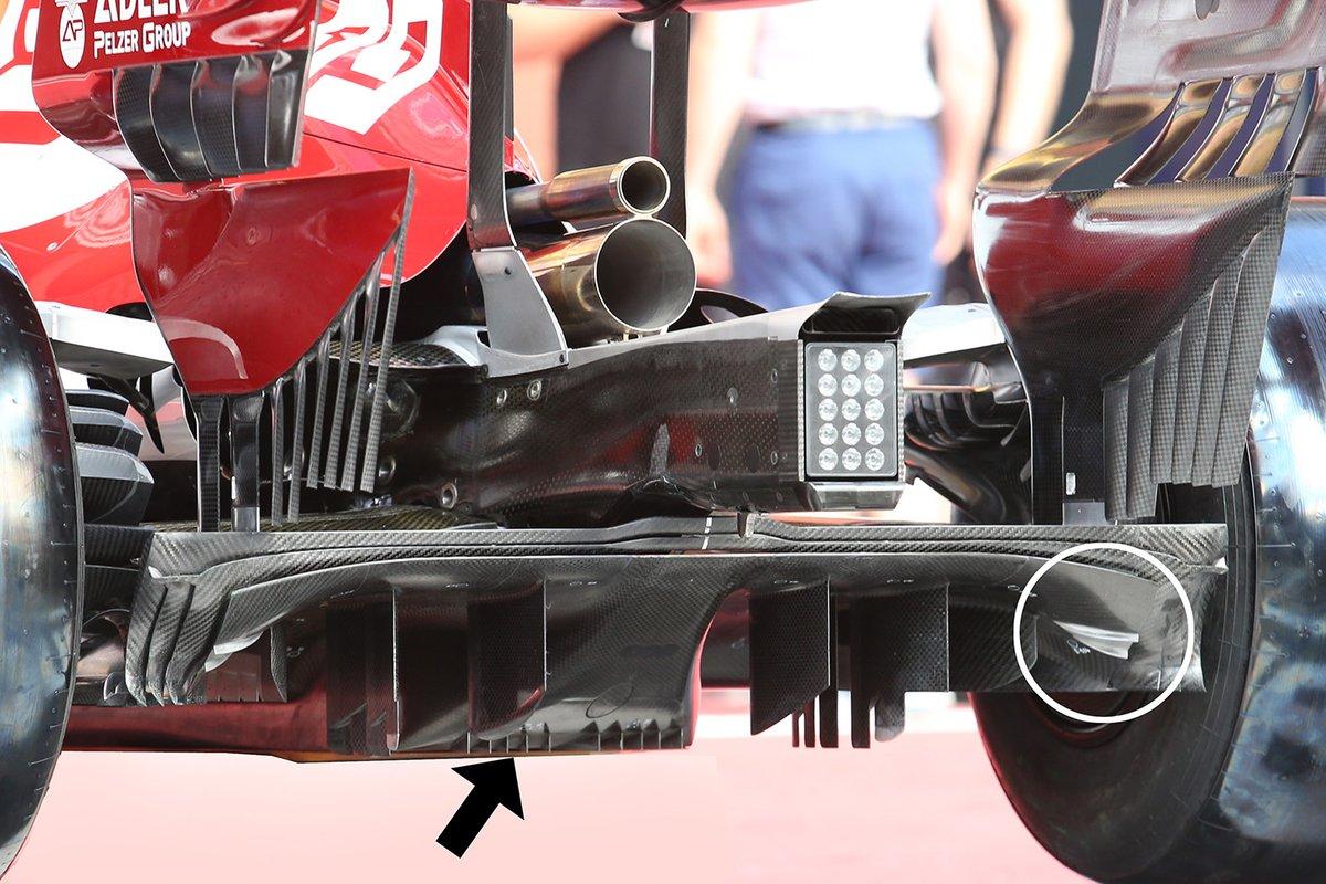 Detalle trasero del Alfa Romeo C39