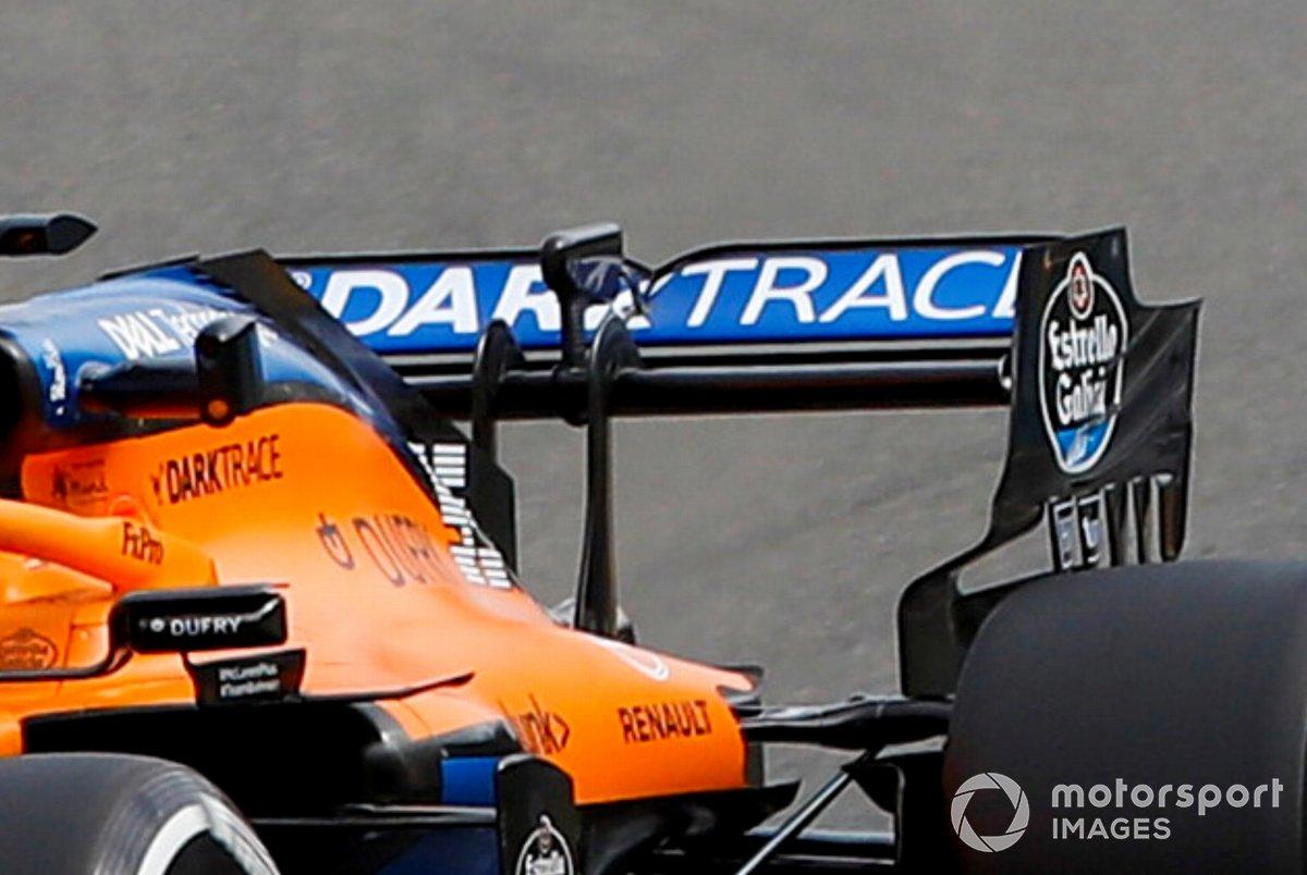 Detalle del alerón trasero de Carlos Sainz Jr., McLaren MCL35
