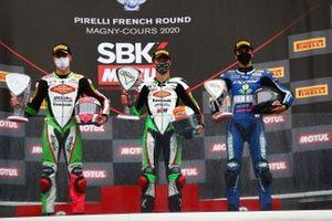 Scott Deroue, MTM Kawasaki Motoport, Jeffrey Buis, MTM Kawasaki Motoport, Bahattin Sofuoglu, Biblion Motoxracing Yamaha