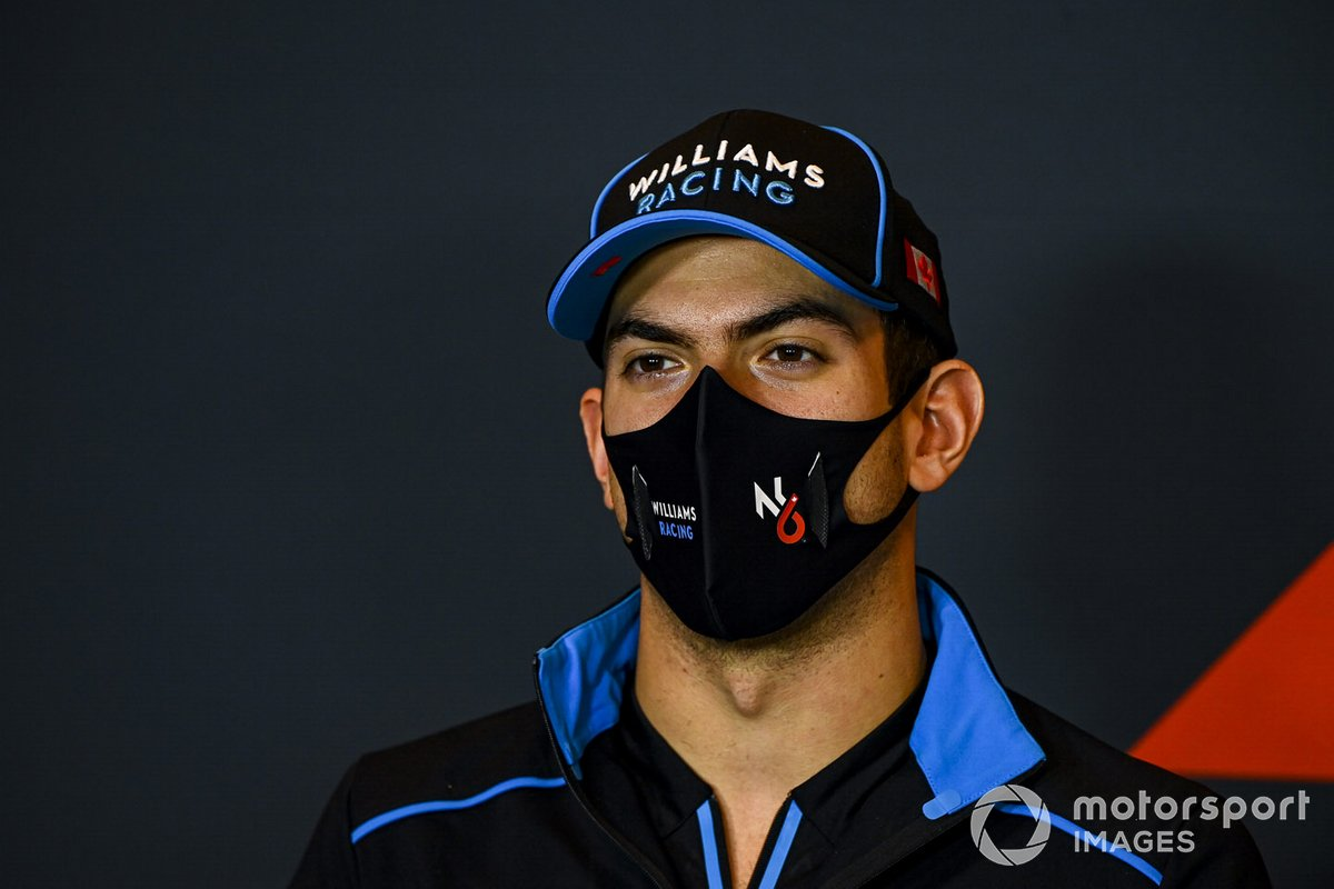 Nicholas Latifi, Williams Racing, en la conferencia de prensa