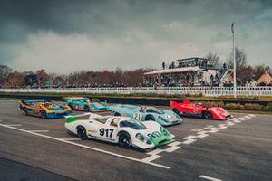 Porsche 917-001 (1969), Porsche 917 KH (1971), Porsche 917/10 (1971), Porsche 917/30 Spyder (1973), Porsche 917/30-001 (1972)