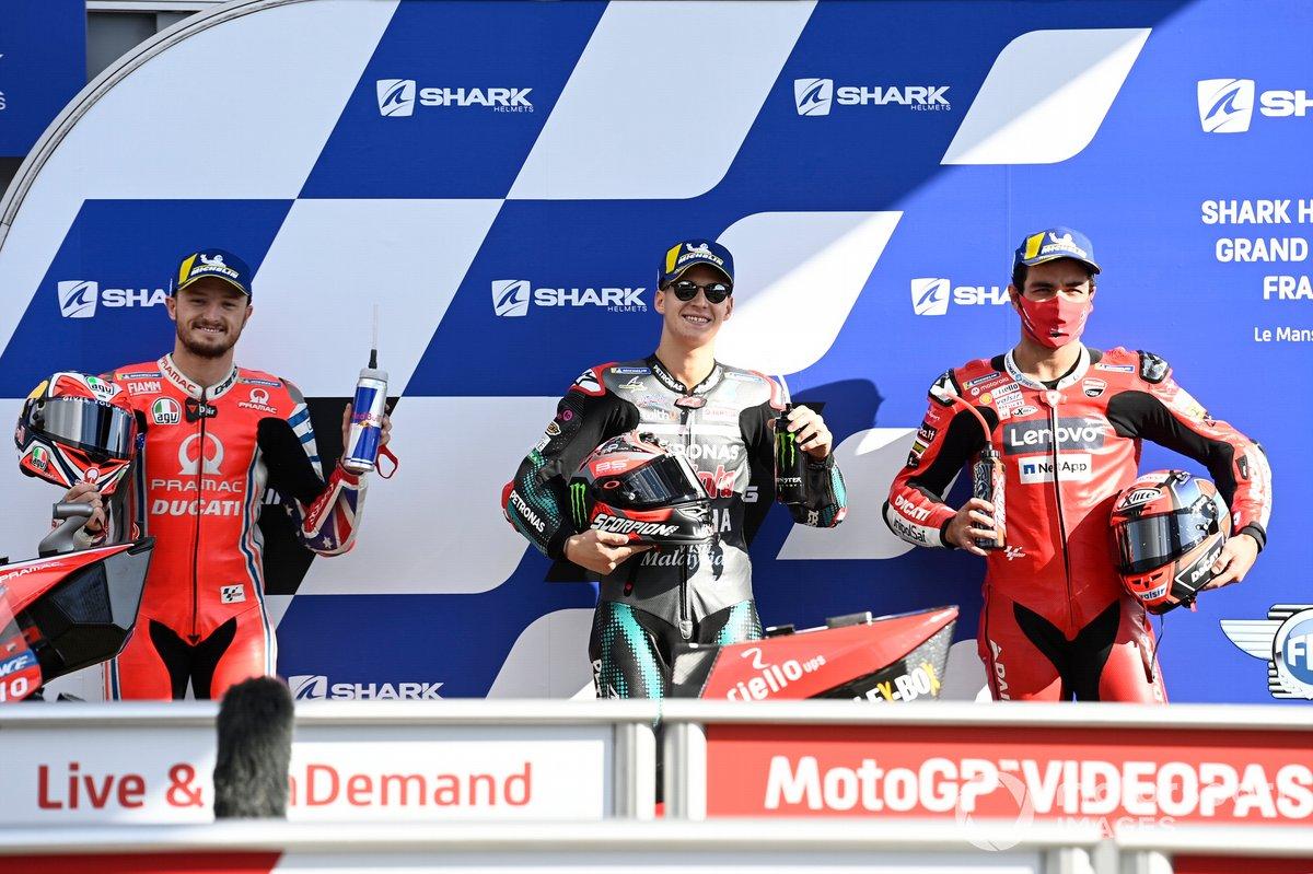Jack Miller, Pramac Racing, Fabio Quartararo, Petronas Yamaha SRT, Danilo Petrucci, Ducati Team